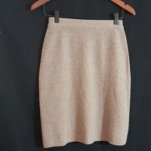 NWOT Alfred Sung Lambswool & Cashmere Knit Skirt